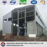 Almacén prefabricado garantizado calidad del marco de acero con el panel incombustible