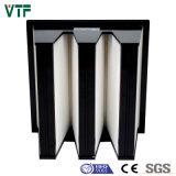 Фильтр средства воздушного фильтра формы V-Type/W плиссированный плотностью