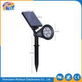 iluminación solar del césped de 24V 6h LED con la lámpara del LED