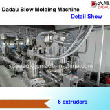 Máquina del moldeo por insuflación de aire comprimido de la protuberancia para el depósito de gasolina plástico