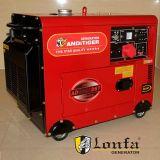 Fase 3, 50Hz a 220V 380V 5kw en silencio Generador Diesel