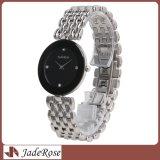 2017新しい方法ステンレス鋼の女性の水晶腕時計