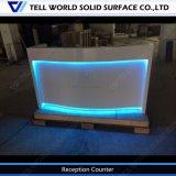 Acrylique pur moderne RVB DEL allumant le bureau de réception commercial d'avant de bureau de meubles de bureau