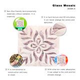 Matural purpurrotes Mosaik Staiend Glasfliesen für Badezimmer-Fußboden und Wände