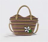 Il sacchetto di spalla del Tote di estate fiorisce il sacchetto della spiaggia della paglia del Sequin (ZXK1871)