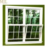 Gitter-Entwurfs-amerikanische Art-Glasgehangenes Aluminiumspitzenfenster