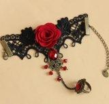 Weinlese-Spitze-Legierungs-Blumen-Armband mit Ring, Form-Zusatzgerät