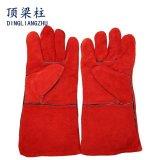 14 Handschoenen van het Lassen van het Leer van de Koe van de duim de Gespleten Echte