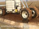 Surtidor lateral del movimiento de Towe del surtidor de la alimentación de la zanja del surtidor del sistema de irrigación de granja del equipo de la potencia de cuatro ruedas linear del surtidor