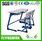 판매 (SF01D)를 위한 학교 가구 두 배 테이블과 의자 세트