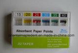 Puntas de la gutapercha de la alta calidad/puntas de papel absorbentes con la longitud marcada
