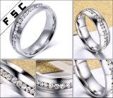 Anello di cerimonia nuziale superiore di aggancio del diamante della CZ dei monili di modo per le donne