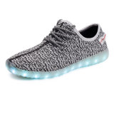 Fashion Unisex Hot Selling Yeezy Boost 350 Flykint LED Light Shoes Sport