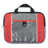 Venta al por mayor bolsa de la tablilla de 10 pulgadas con el bolsillo delantero abierto transparente con insignia modificada para requisitos particulares