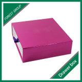Rectángulo de regalo de encargo del papel de la joyería de la cartulina
