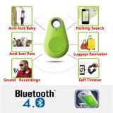 Perseguidor elegante del perro de animal doméstico del clave de la carpeta de la alarma de la etiqueta del localizador del GPS del perseguidor de Bluetooth