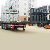 Bett-LKW-halb Flachbettschlußteil des Behälter-Transport-20FT 40FT 45FT 53FT flacher mit Seitenwand/Headboard
