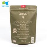 Напечатано встать на молнию чехол; мешок для упаковки продуктов питания