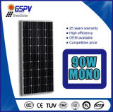 Panneau solaire mono habile de la fabrication 90W de Chine
