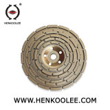 콘크리트를 위한 놋쇠로 만들어진 다이아몬드 두 배 컵 바퀴