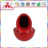 Красный металлический улитка звуковой сигнал громкоговорителя