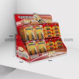 Présentoir chaud de pouvoir de contre- dessus de carton de rangées de la vente trois pour la promotion