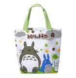 Le sac mignon de déjeuner de gosses de filles de Totoro de dessin animé pour cadre de déjeuner d'emballage d'enfants de femmes d'école le mini petit met en sac le sac de nourriture de pique-nique de sac à main de tirette