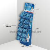 Étalage de pâte dentifrice de carton pour le supermarché/carton annonçant des présentoirs
