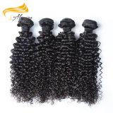 100人間の毛髪の卸売のバージンのモンゴルのねじれたカーリーヘアー