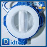 Клапан-бабочка волочения триппеля Didtek смещенная с электрическим силовым приводом