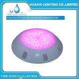 Resina fixada na parede luz subaquática enchida da lâmpada da piscina da iluminação do diodo emissor de luz