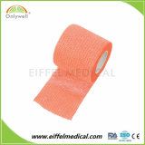 Coton Non-Woven cohésive Bandage médical approuvé ce prix d'usine ISO