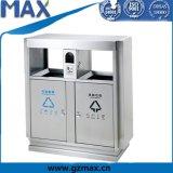 Cubo de basura reciclable del acero inoxidable del cenicero derecho público Max-Hb39