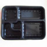 3/4//5/6 compartiment clair biodégradent le plateau de nourriture/plaque en plastique de cadre