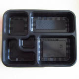 3 Compartments Clear Biodegrade Plastic Packaging Food Tray Boxes Plate