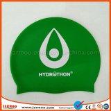 大人の習慣によって印刷される緑の水泳帽