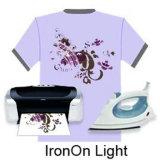 La main de fer doux-jet d'encre sur papier de transfert de chaleur pour T-Shirt