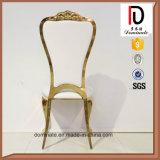 Style moderne et original de l'or en cuir blanc chaise de salle à manger