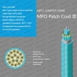 (v) 실내 MPO Gjfxv (h) /Gjpfh 점프 철사 접속 코드 LSZH/PVC 광학 섬유 케이블
