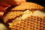 Equipamento de restos de calda Stroopwafels waffle cafeteira com marcação CE