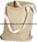Bolso de compras modificado para requisitos particulares producto del totalizador de la lona del algodón de la insignia de la fábrica de China