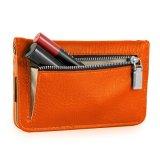 Lencca Kymira II Orange Bracelet Tan Wallet Cas compatible pour Sharp Aquos S2