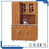 インドのタイプMDF 3のドアキャビネットによってカスタマイズされるPVC上塗を施してある食器棚