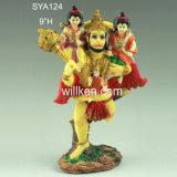 Figurine indù del dio di Polyresin, statua indiana del dio della resina