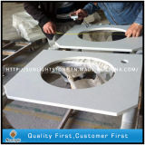 Pedra de quartzo branca artificial projetado para bancadas de cozinha