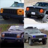 Hoge Lage Straal 45W 7 LEIDENE van de Duim 7X6 Koplamp voor Ford Jeep Van Jee Xj Yj