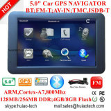 "5.0"" privado Alquiler de carretilla Marine, navegación GPS con manos libres Bluetooth para teléfono, alquiler de DVD, transmisor de FM, AV-en la cámara trasera, sistema de navegación GPS de mano,"