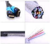3D1.4V Tejido de nylon grueso cable HDMI