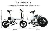 16 Zoll-Al-Legierung, die elektrisches Fahrrad mit Shimano 6 Geschwindigkeit faltet