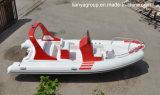 Pesca inflable rígida de los barcos del barco inflable de la costilla de Liya los 5.8m
